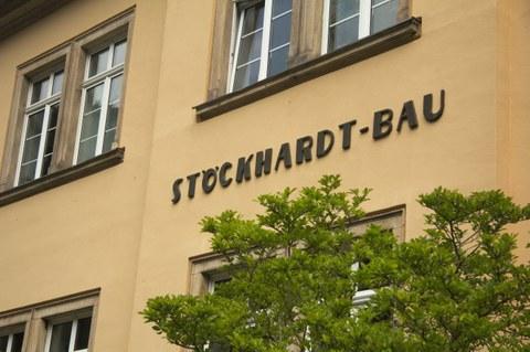 Schriftzug Stöckhardt-Bau