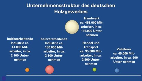 Unternehmensstruktur des deutschen Holzgewerbes