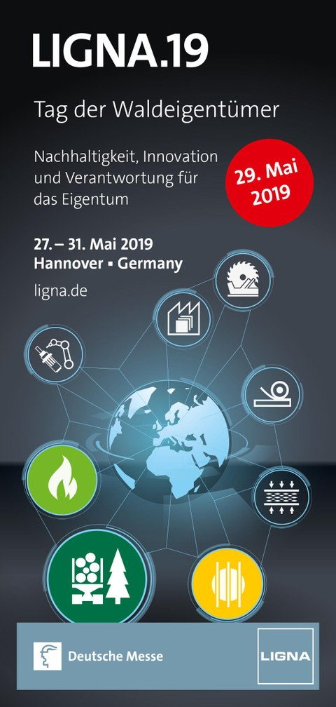 LIGNA Messe Flyer