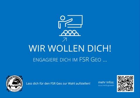 Wahlplakat mit Bildaufschrift: Wir wollen DICH!