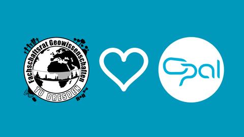 FSR-Logo, dann ein Herz und das OPAL-Logo
