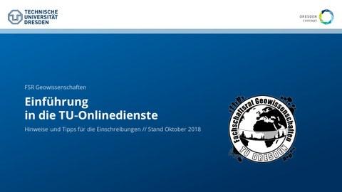 Titelfolie Einführung Onlinedienste 2018