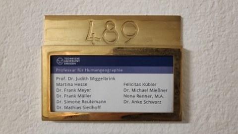 Zimmerschild der Professur