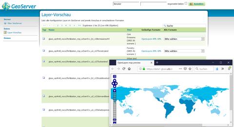 Geodateninfrastrukturen: GeoServer Screenshot