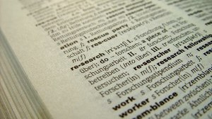 Aufgeschlagenes Wörterbuch, Wort research
