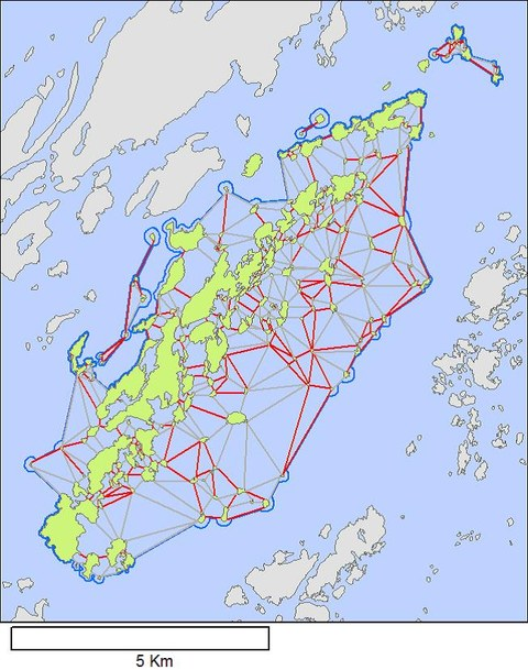 Gruppierte Inselpolygone