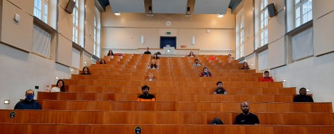 students in the lecture room