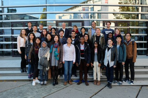 Cartography students and representatives of the four universities
