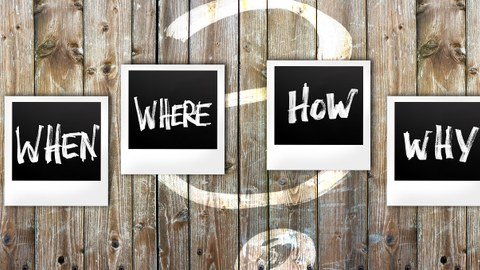 Fragen auf Polarids angepint an Holztür