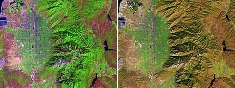 Abb. 9-9: Salt Lake City aufgenommen mit LANDSAT 7