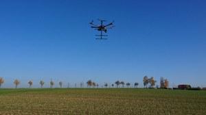UAV over field