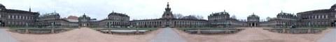 Panoramabild vom Zwinger Dresden