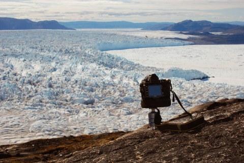 Vermessung eines grönländischen Gletschers mit Hilfe einer Kamera