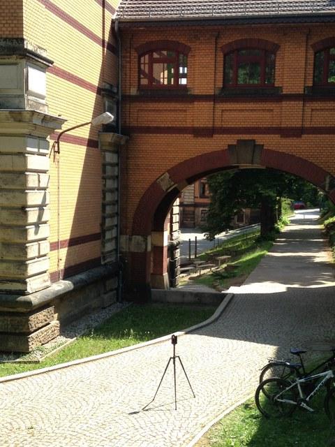 Laserscanner-Aufnahme am Gymnasium Dresden-Plauen
