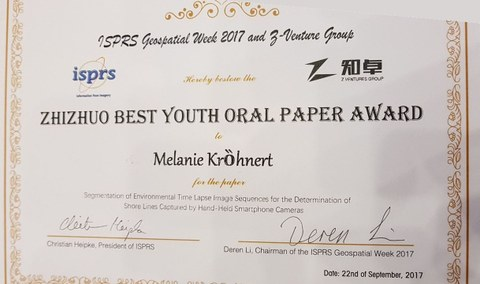 Certificate Best Youth Oral Paper Award