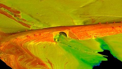 Ein virtuelles Oberflächenmodell der alten Zinnbrücke