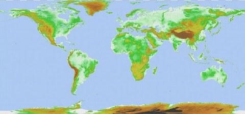 Abb. 2: Weltweites digitales Geländemodell