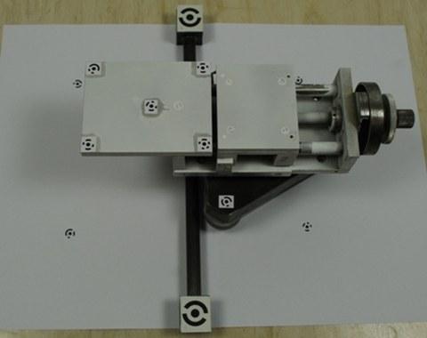 Abb. 1: Apparatur zur Simulation von Rissen