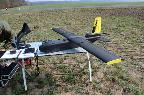 Eingesetztes UAV