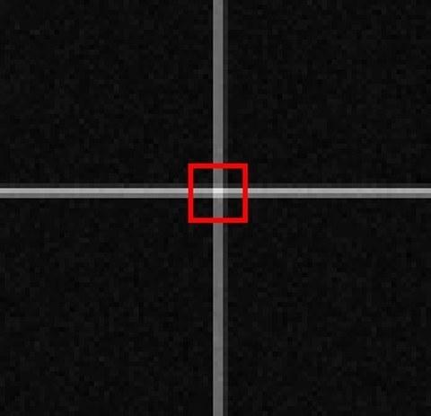 Abb. 3: Template und ausgeschnittenes Patch (rote Markierung)