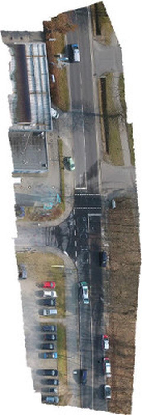 Erhaltenes Orthophoto aus einer Mehrbildsequenz mittels Agisoft Photoscan