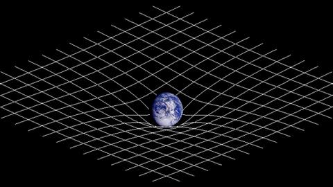 Gekrümmete Raumzeit (Symbolbild)