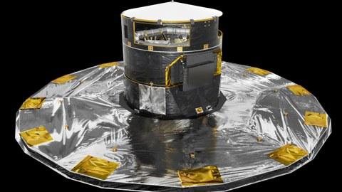 Künstlerische Darstellung des Gaia-Satelliten