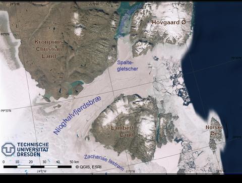 Übersichtskarte 79N-Gletscher