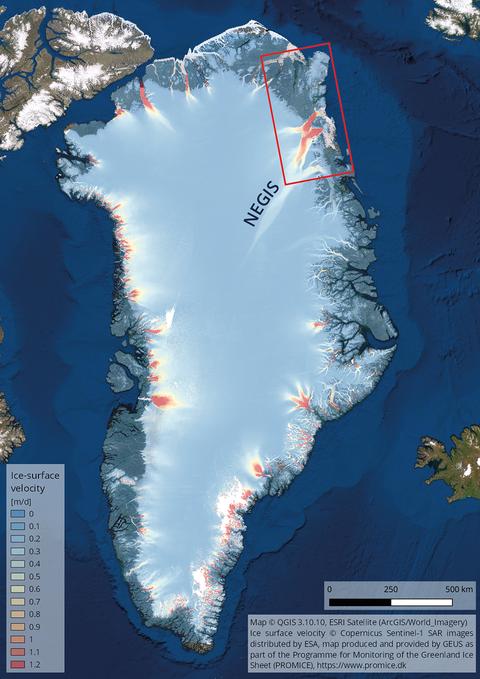 Überblickskarte Grönland