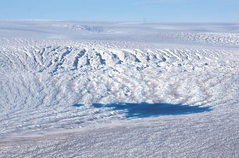 View upstream over the 79°N glacier in northeast Greenland