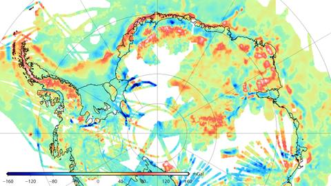 Schwereanomalie Antarktis