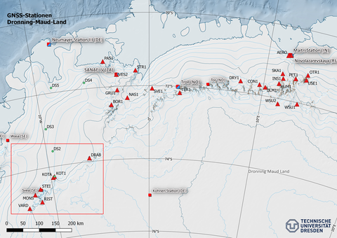 GNSS-Stationen Dronning-Maud-Land, Ostantarktis