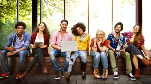 Gruppe Studierender