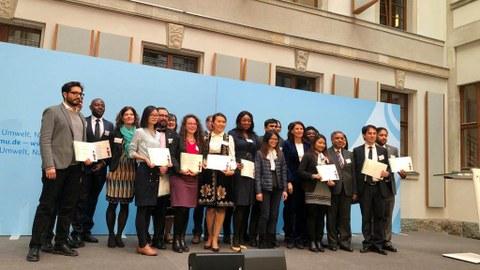 Gruppe von ICP-Stipendiaten im Bundesumweltministerium