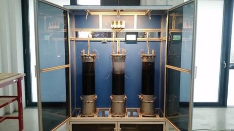 Methanstufe zur Monofermentation von stickstoffbetonten Substraten am Institut für Abfall- und Kreislaufwirtschaft