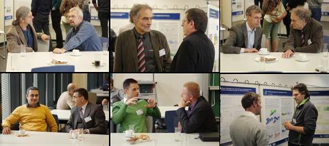 Collage aus Bildern der Pausengespräche