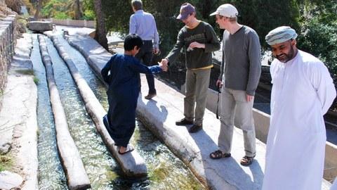 Bewässerungswasserverteiler im Oman