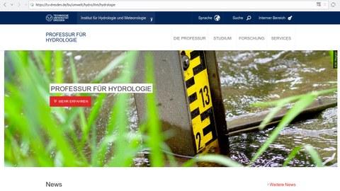 Startseite der Professur für Hydrologie