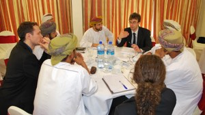 Besprechung im Oman