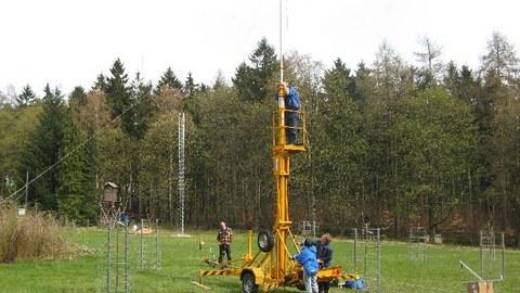 mobiler Mast und Gittermast