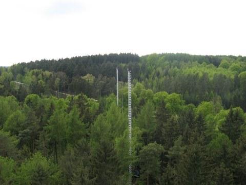 GM 2, GM1 und Teleskopmast (Blick vom Hauptturm)