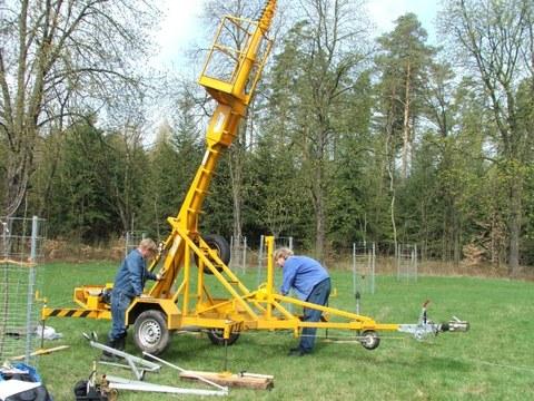 Aufbau Teleskopmast