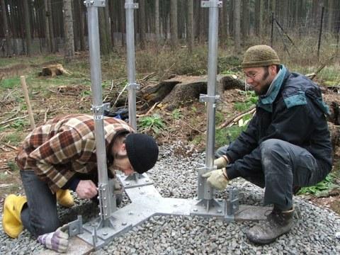 Aufbau Gittermast 2