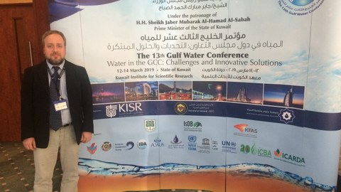 Catalin Stefan at the 13th Gulf Water Conference