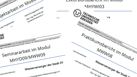 Cover pages of various reports