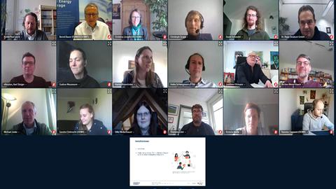 Screenshot des virtuellen Kick-off Meetings der Projektpartner und der Projekträger