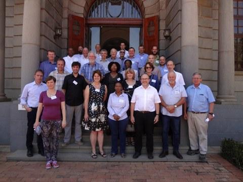 Teilnehmer des CLIENT-II MultiRisk Workshops  - Südafrika