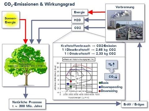 CO2-Emissionen & Wirkungsgrad