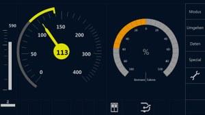 Bedienoberfläche des Systems ETCS für den Triebfahrzeugführer