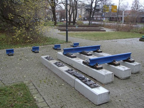 Oberbauausstellung, Weichen-Betonschwellen